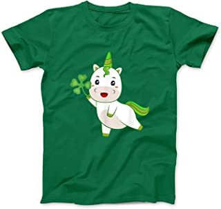 Mint Mama Unicorn Irish Ireland Shamrock St Patrick Day Kid Girls tee T-Shirt