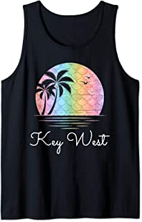 Key West Florida Vacation Beach Mermaid Family Group Gift Tank Top