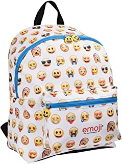 Mochila Escolar Original Emoji Niña Niño con Bolsillo Frontal - Bolso Chica Chico Caritas Oficiales de Whatsapp - Cartera Juvenil de Viaje Escuela Colegio - 40x30x18 cm