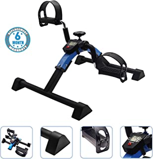 Voroly Portable Ab Exercise Bike Cycle Peddle Exerciser Gym Fitness Exerciser with Adjustable Resistance LCD Display for L...