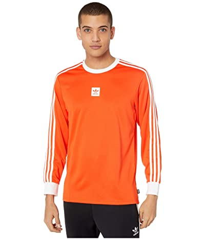 adidas Skateboarding Long Sleeve Club Jersey (Active Orange Melange/White) Men