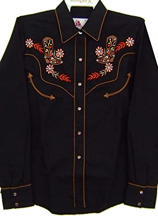 Modestone Womens Embroidered Fitted Western Camisa Vaquera ...