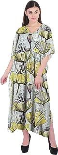 RADANYA Floral Women's Cotton Kaftans Beachwear Bikini Cover Up Dress Caftan