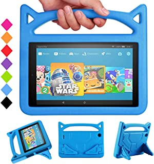All-New Fire HD 10 2017 Tablet Case -Riaour Shock Proof Light Weight Convertible Handle Stand Kids Friendly Cover for Fire...