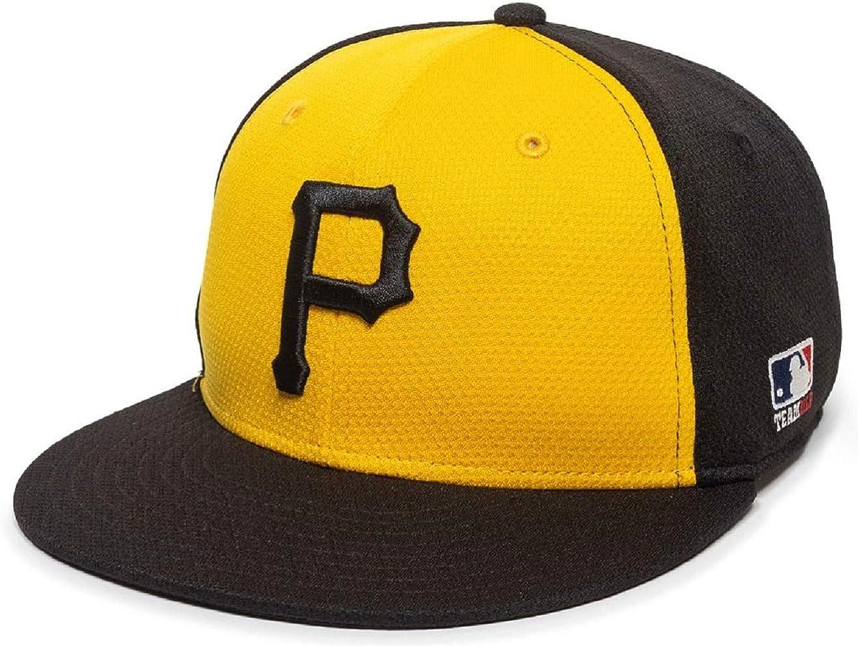 OC Sports Pittsburgh Pirates Colorblock Yellow Black Flat Brim Hat Cap Adult Men's Adjustable