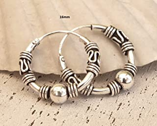 Liara Polished And Nickel Free 16mm Bali Hoops 925 Sterling Silver