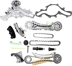 OCPTY TS20395F Timing Chain Kit w/Gears + Water Pump fits for 4.0L Ford Mazda Mercury SOHC V6 Engine
