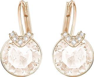 SWAROVSKI Women's Bella V Pierced Earrings, Pink, Rose-gold tone plated