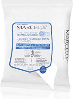 Marcelle Ultra-Gentle Makeup-Removing Cleansing Cloths, Hypoallergenic and Fragrance-Free, 25 cloths