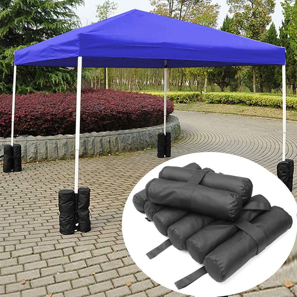 HXHON - Bolsa de Arena para Tienda de campaña, 4 Piezas, Resistente, Doble Costura, Bolsa de Peso, Bolsa de Arena con Peso, para Tienda de campaña: Amazon.es: Jardín
