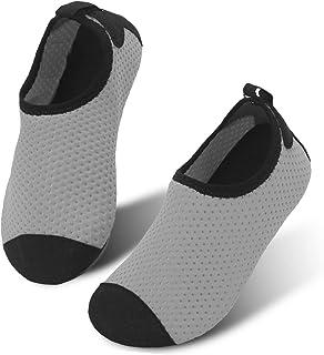 df0d23bae5f JIASUQI Kids Boys and Girls Summer Athletic Water Shoes Aqua Socks for  Beach Swimming Pool