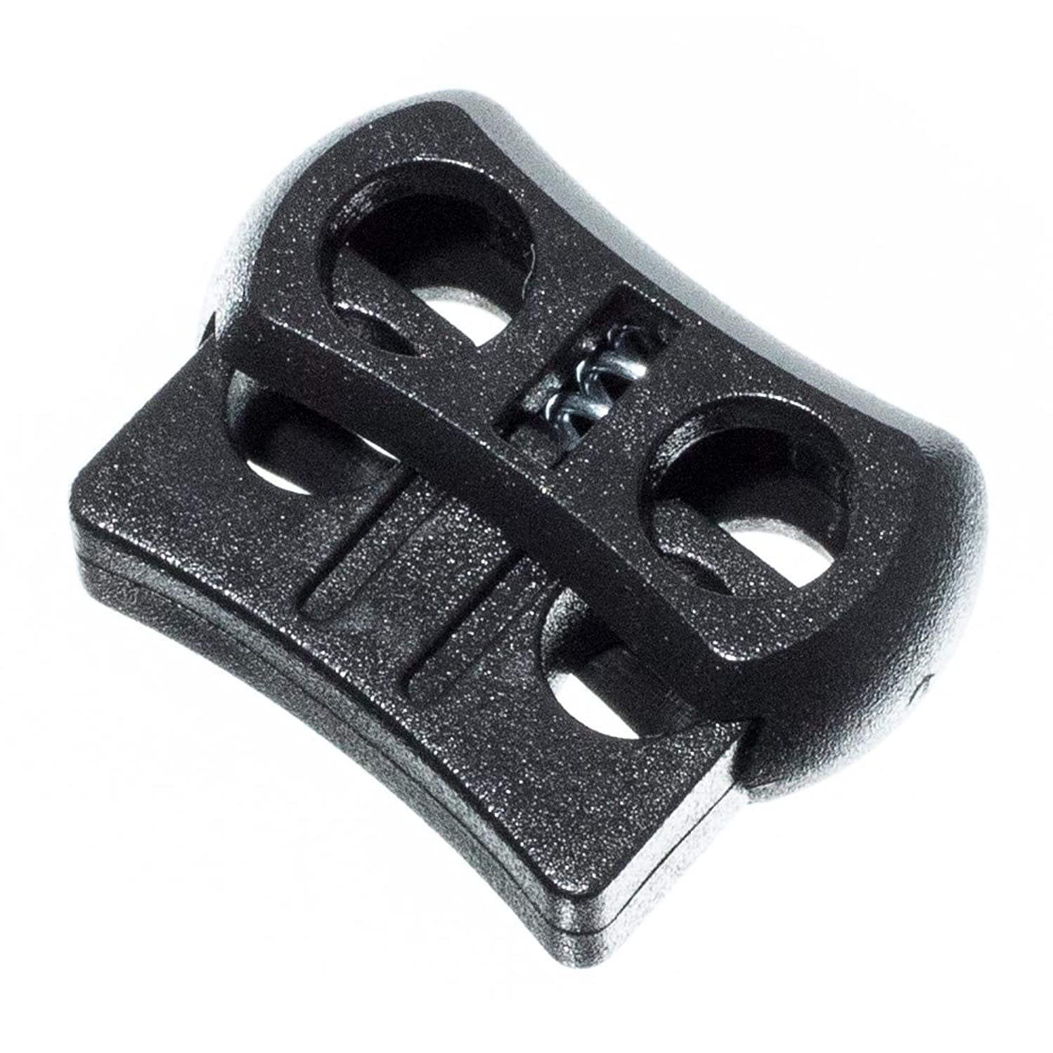 PARACORD PLANET Dual Circle Cord Lock Plastic Spring Stop Toggle – Dual Lock for 1/8 inch Cord