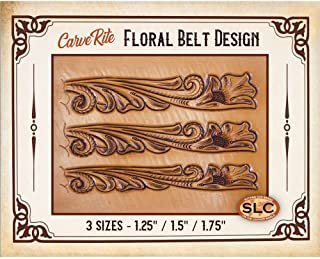 Springfield Leather Company CarveRite Tooling Patterns (Floral Belt)