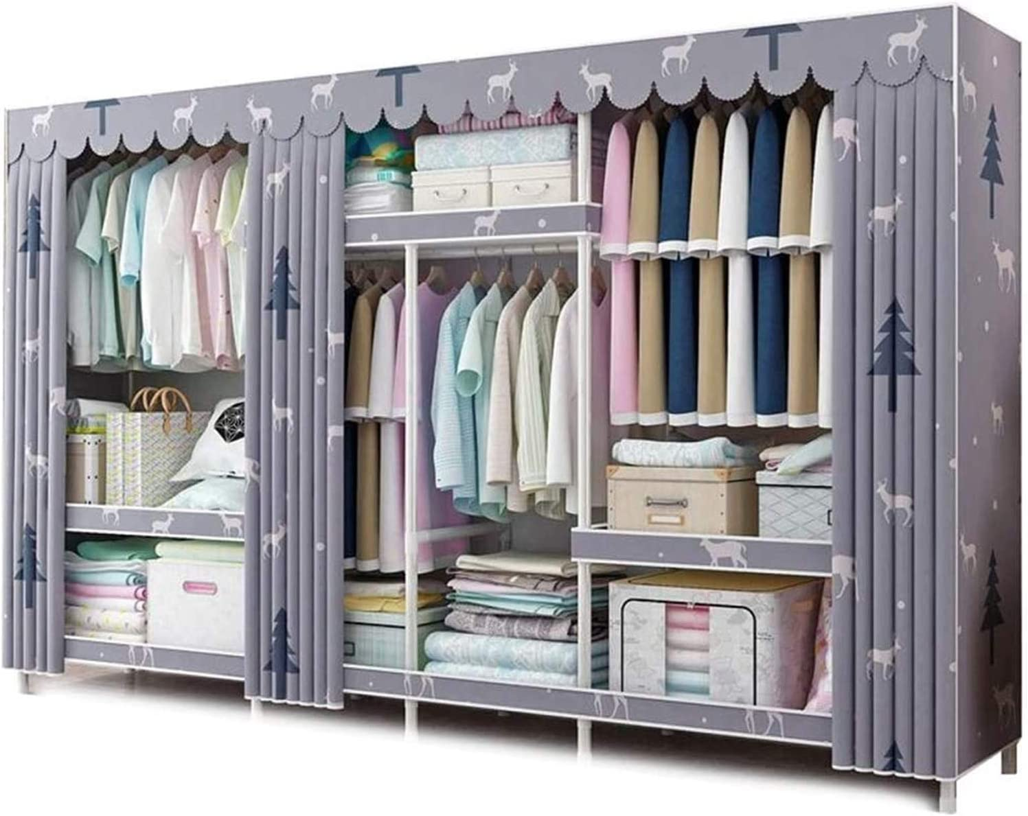 LLCY Portable Closet Wardrobe Special price Challenge the lowest price Storage Organizer Clothes