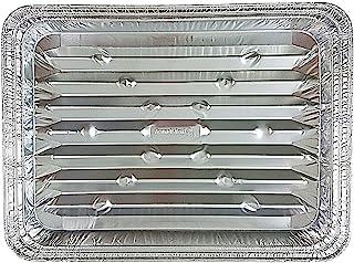 Handi-Foil Disposable Aluminum Foil Broiler Baking Cooking Pan - HFA REF # 333 (25)