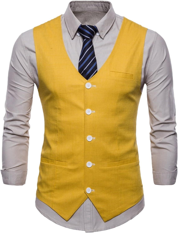 newrong Men's Dress Tuxedo Solid Suit Vest