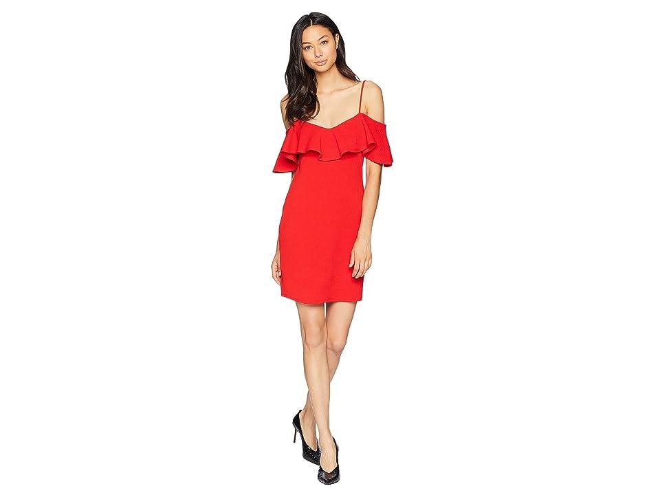 BCBGeneration Flounce Mini Dress (High Risk Red) Women