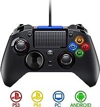 PICTEK Mando PS4 con Cable, Diseño Asimétrico para Manos