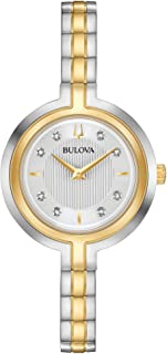 Bulova Classic 98P193 Womens Rhapsody Silver Tone Stainless Steel Band Silver Quartz Dial Watch