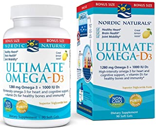 Nordic Naturals - Ultimate Omega-D3, Supports Healthy Bones and Immunity, 90 Soft Gels