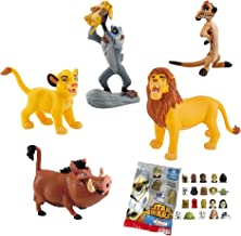Lote 5 Figuras Comansi EL Rey Leon. Simba Cachorro - Simba Adulto - Timón - Pumba - Rafiki + Regalo