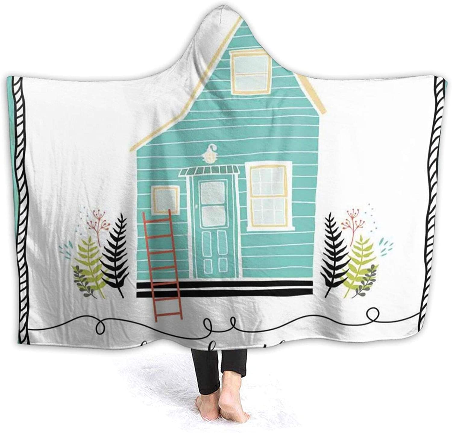 Hooded Blanket Free shipping anywhere in the nation Anti-Pilling Flannel Small The Countrysi in At the price of surprise House