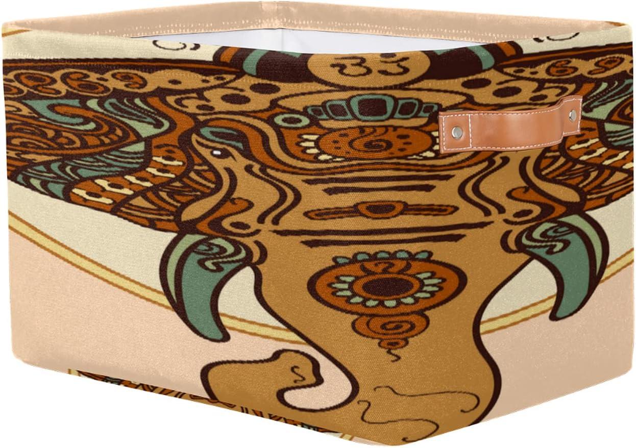 Storage Basket Long-awaited African Elephant Toy Rectangular Ethnic wholesale