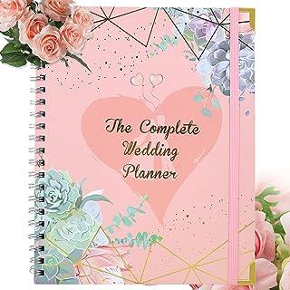 $29 » DICVUTE Wedding Planner Book, Undated Bridal Planning Organizer Calendars Guest Book Wedding Notebook Perfect Engagement G...