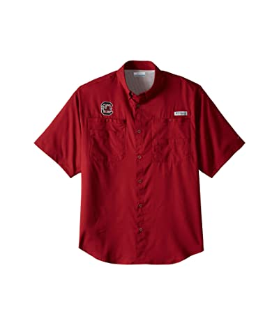 Columbia College South Carolina Gamecocks Tamiami II Short Sleeve Shirt (Beet) Men