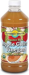 Dynamic Health Organic Cider Vinegar with Mother, Raw Apple, 16 oz