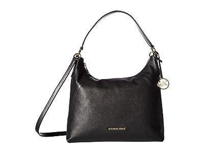 MICHAEL Michael Kors Aria Large Shoulder (Black) Handbags