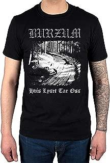 Burzum Hvis Lyset Tar OSS T-Shirt Album Music Hlidskjalf Metal for Men T-Shirt Black