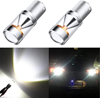 Alla Lighting Super Bright High Power LED Lights Bulbs for Back-up Reverse Light (BAY15D)