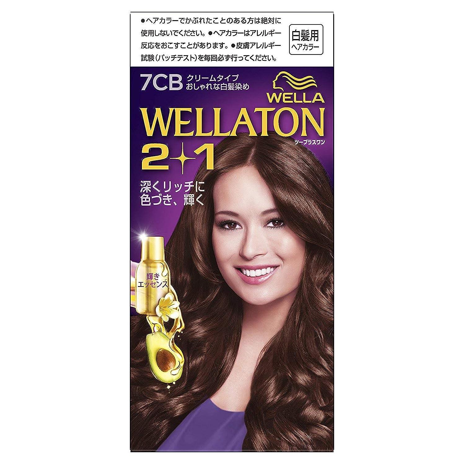 国籍順応性のある閉じるウエラトーン2+1 白髪染め クリームタイプ 7CB [医薬部外品]×3個