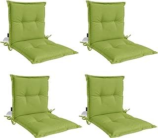 Panama Midback Outdoor Flanged Cushion - Green (Set of 4)