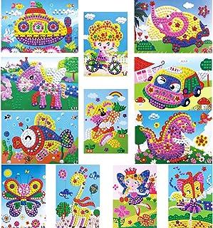 WENTS Kit Artisanal de mosaïques collantes pour Enfants, 12 Images séparées d'autocollant de mosaïque à la Main Art Enfant...