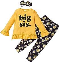Peuter Baby Meisjes Bijpassende Outfits Kleine Grote Zus Romper Tops Daisy Broek Hoofdband Set