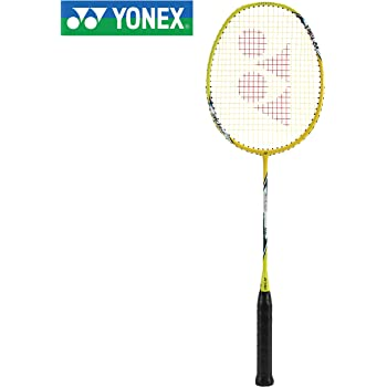 Yonex ARC Saber 10i Strung Badminton Racquet ( Yellow, Graphite, G4 - 77g, 30 lbs Tension)