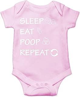 CBTwear Sleep, Eat, Poop, Repeat - Funny Baby Daily Tasks - Cute Infant One-Piece Baby Bodysuit