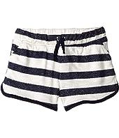 Yarn-Dyed Textured Stripe Shorts (Toddler/Little Kids)