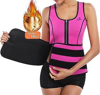 7d441882acba3 Neoprene Waist Trainer Corset for Weight Loss with Adjustable Trimmer Belt  Sweat Sauna Vest Body Shaper