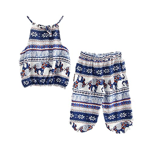 fe8025e0be9 WINZIK Kids Baby Girls Outfits Boho Big Small Elephant Pattern Camisole +  Pants Beachwear Clothes Set