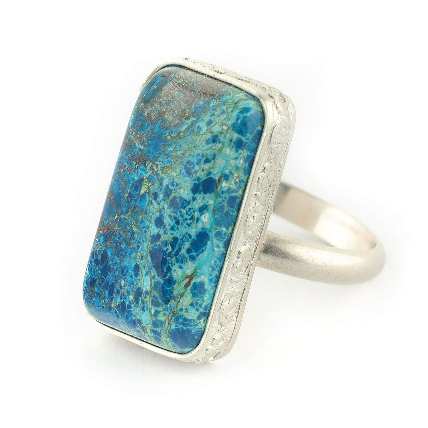 Quantum Quattro and Sterling Silver Ring a rectangular Max 41% OFF shape Popular overseas