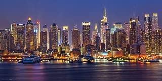 Culturenik New York City (NYC) Manhattan at Night Decorative Photography Print (Unframed 12x24 Poster)