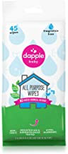 Dapple All Purpose Travel Size Wipes, Fragrance Free, Sulfate-Free, Hypoallergenic, 45 Count