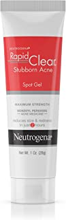 Neutrogena Rapid Clear Stubborn Acne Spot Treatment Gel with Maximum Strength Benzoyl Peroxide Acne Treatment Medicine, Pi...