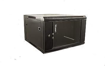 Black Model E 300mm Wall Mounted Network Cabinet Rack Linxcom UK 6U 19 570
