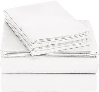 Pinzon Cotton Flannel Bed Sheet Set - Queen, White