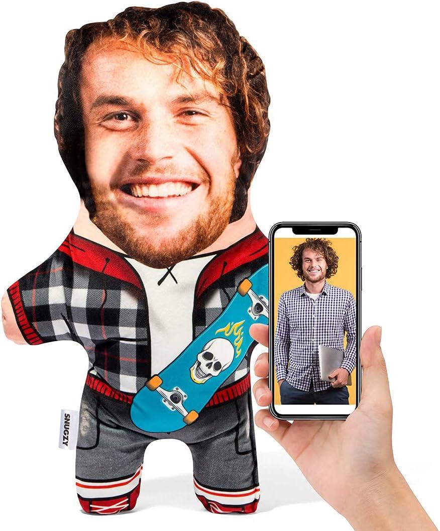 Snugzy Personalized Skateboarder Mini Me Face w Phoenix Mall Finally resale start Pillows Custom