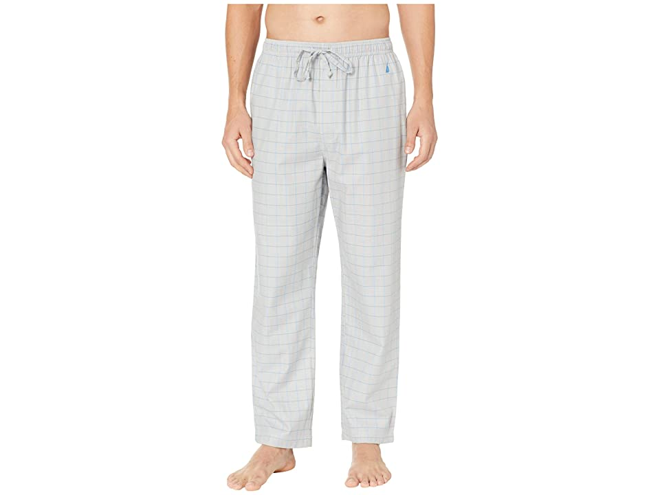 Nautica Herringbone Plaid Sleep Pants (Neutral Grey) Men